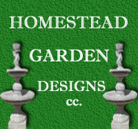 Homestead Garden Designs cc. Manufacturers of pots, plants and garden furniture and water features in Scottburgh, South Coast, Scottburgh Gardening